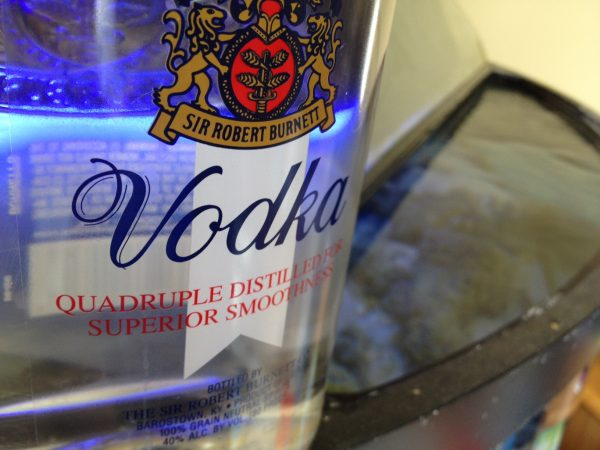 Vodka dosing in a saltwater aquarium