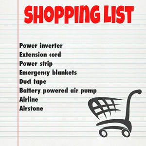 power failure shopping list