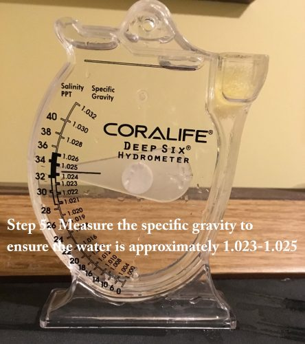Step 5: measure the specific gravity (density) to confirm the concentration