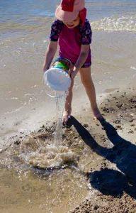 bucket of salt water