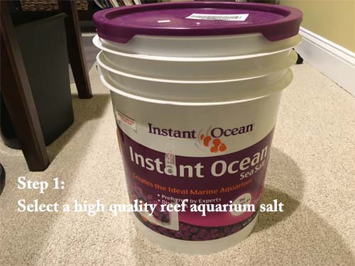 how to make saltwater step 1