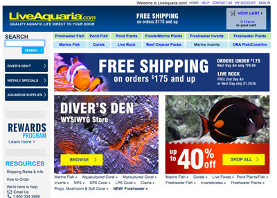 LiveAquaria is the best source for buying saltwater fish online