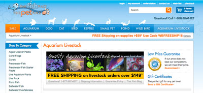 ThatFishPlace is another popular place when buying saltwater fish online