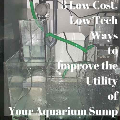 3 low cost low tech ways to improve the utility of your aquarium sump