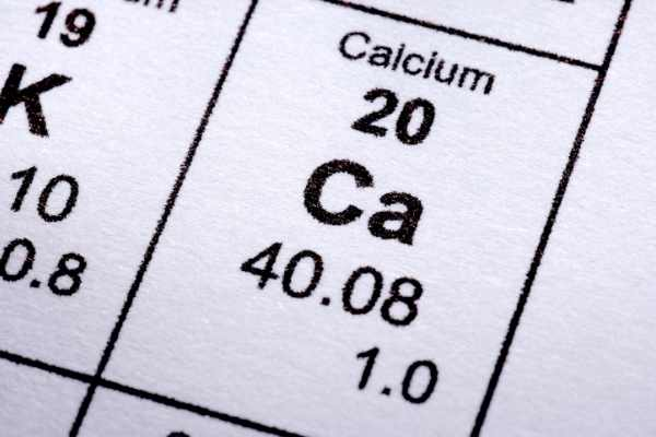 Calcium is the 20th element on the periodic table